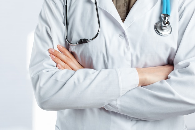 Arts met een stethoscoop Premium Foto