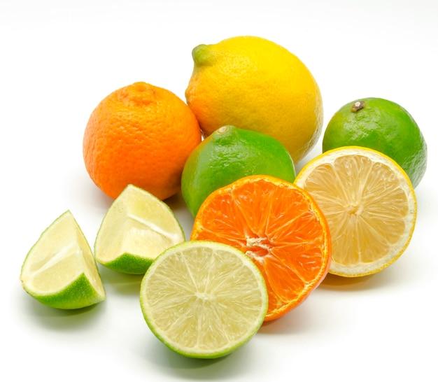 Assortiment van citrusvruchten Premium Foto