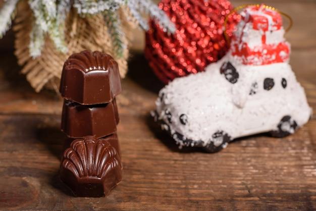 Assortiment van fijne chocoladesuikergoed Premium Foto