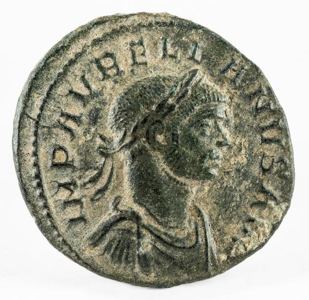 Aurelian. romeinse munt. Premium Foto