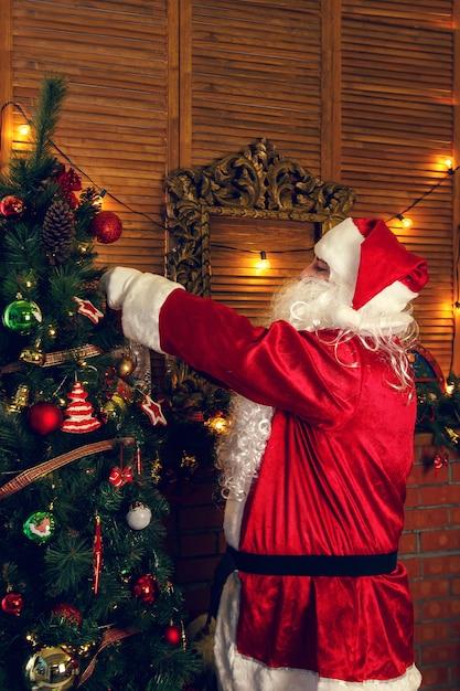 Authentieke kerstman Premium Foto