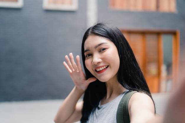 Aziatische blogger vrouwenreis in peking, china Gratis Foto