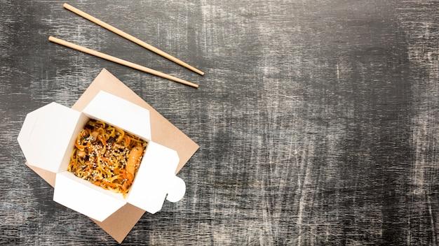Aziatische voedseldoos het exemplaarruimte van de hoekhoek Gratis Foto