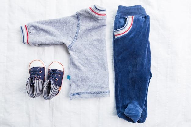 Baby boy kleding Premium Foto