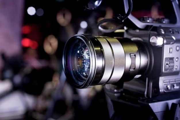 Backstage van videoproductie professionele videocamera's Premium Foto