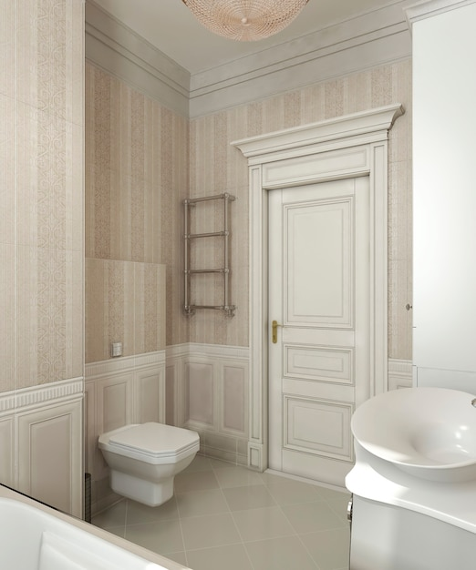 Badkamer klassieke stijl Premium Foto