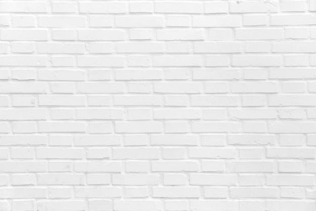 Bakstenen muur geschilderd in het wit Gratis Foto