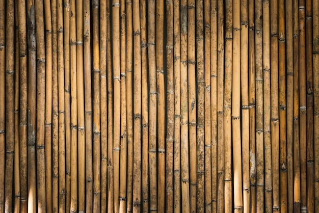 Bamboe hek achtergrond Premium Foto