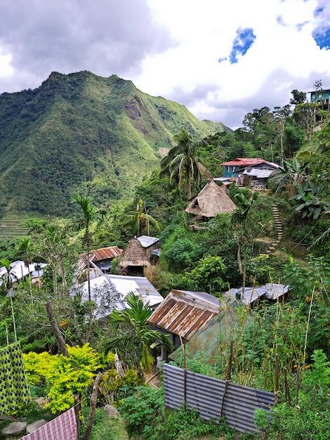 Banaue, filippijnen - 08 maart 2012. het kleine dorp in banaue, filippijnen Premium Foto