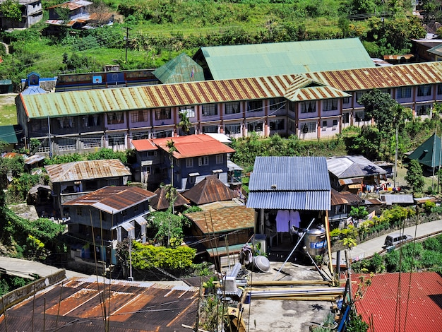 Banaue, filippijnen - 09 maart 2012. het kleine dorp in banaue, filippijnen Premium Foto
