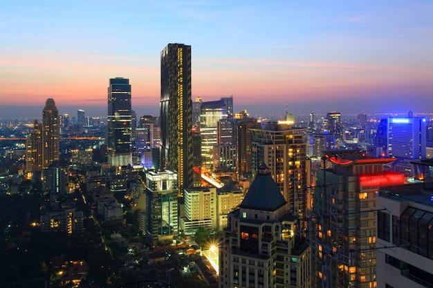 Bangkok skyline stadsbeeld Premium Foto
