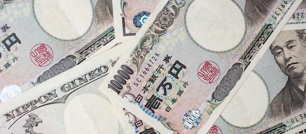 Bankbiljet van 10.000 japanse yen Premium Foto