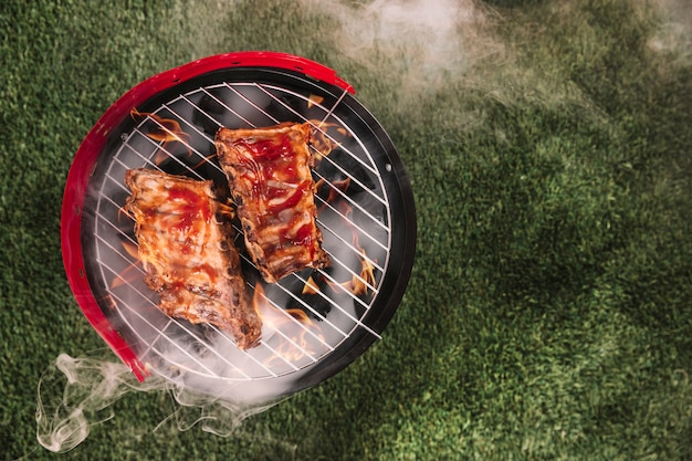 Barbecue achtergrond Gratis Foto