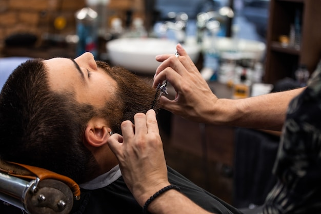 Barbershop kapper en kapsalon Premium Foto