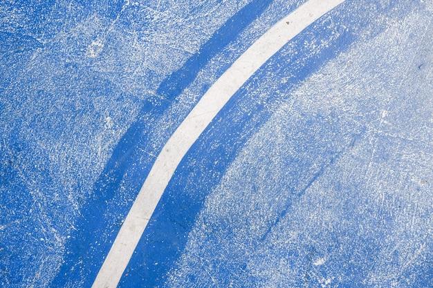 Basketbalveld achtergrond, vloer van basketbal met markering lijnen Premium Foto