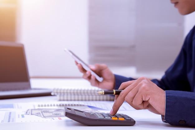 Bedrijfsfinanciering accounting banking concept. Premium Foto