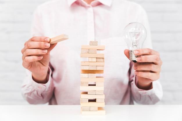 Bedrijfsstrategie en ideeconcept Gratis Foto