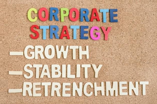 Bedrijfsstrategie in de raad van bestuur Gratis Foto