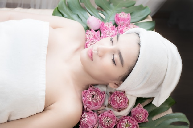 Behandeling beauty spa Premium Foto