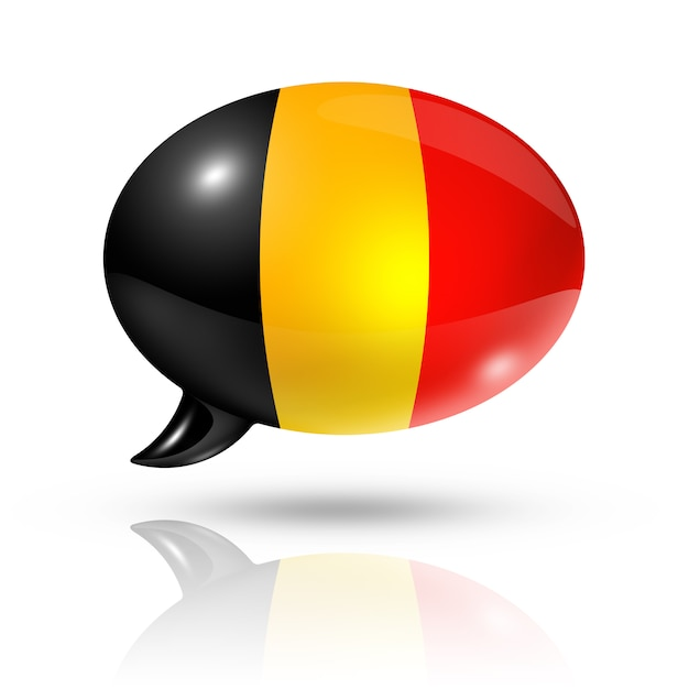 Belgische vlag tekstballon Premium Foto