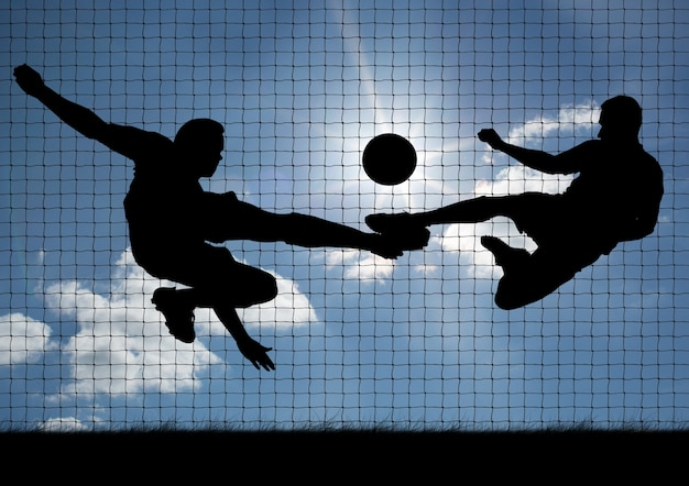 Beoefenen van deskundigheid technicus gerichte voetbal Gratis Foto