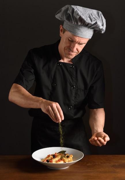 Bereid voedsel klaar Premium Foto