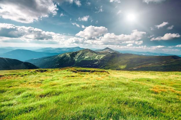Berglandschap in de zomer Premium Foto