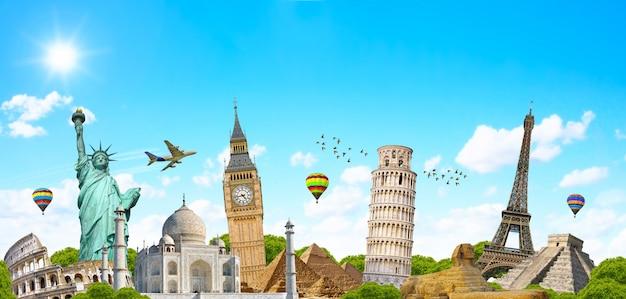 Beroemd monument van de wereld Premium Foto