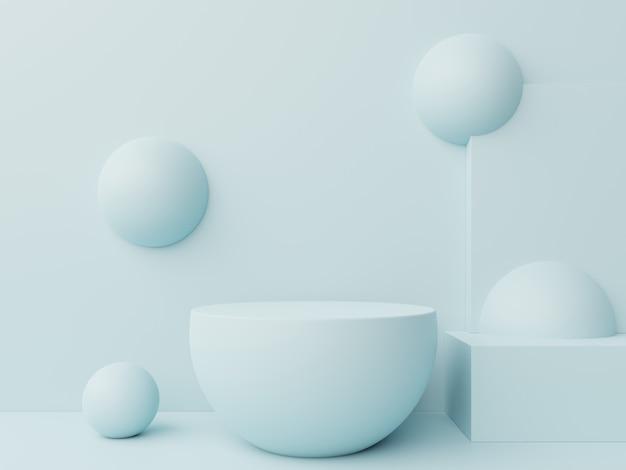 Bespot abstract podium voor het plaatsen van producten. Premium Foto