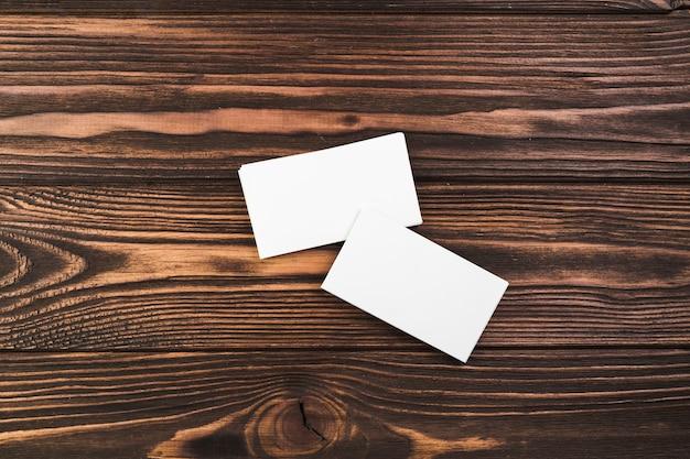 Bespotten blanco visitekaartje Gratis Foto