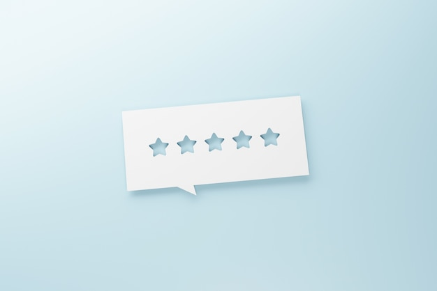 Beste beoordeling van uitstekende services voor tevredenheid. Premium Foto
