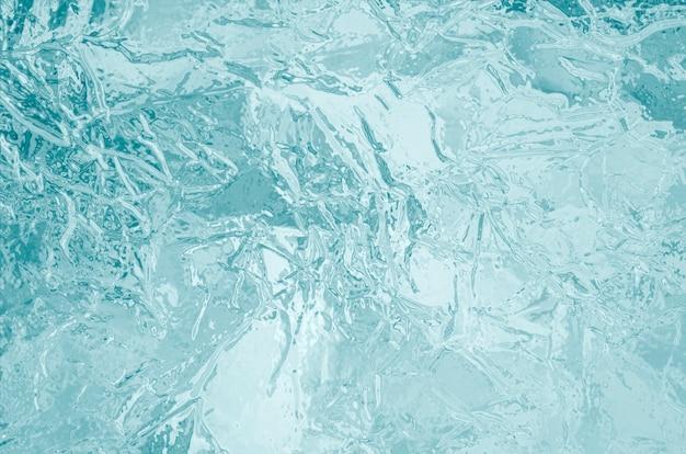 Bevroren ijs textuur achtergrond Premium Foto