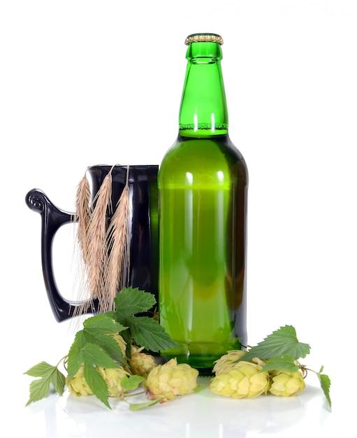 Bier en hop Premium Foto