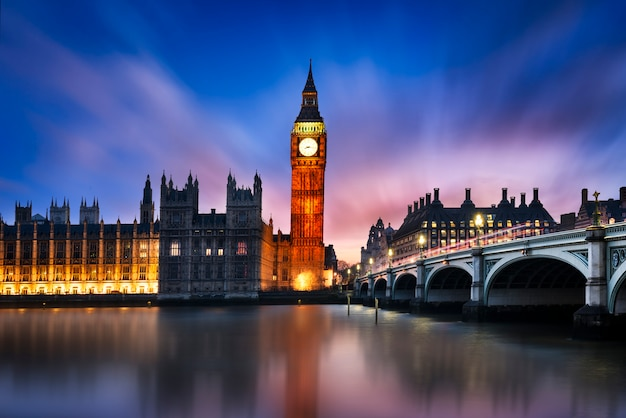 Big ben en house of parliament Premium Foto