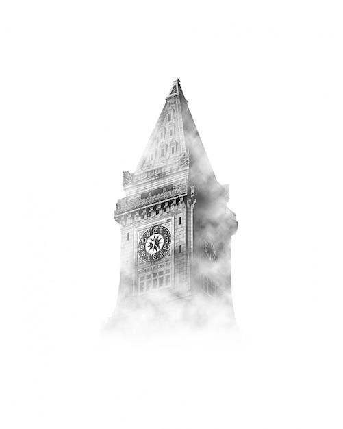 Big ben in de lucht met wolken Gratis Foto