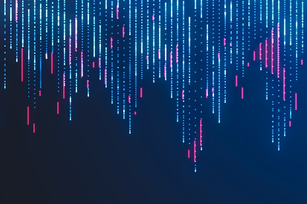 Big data visualisatie. sci fi achtergrond Premium Foto