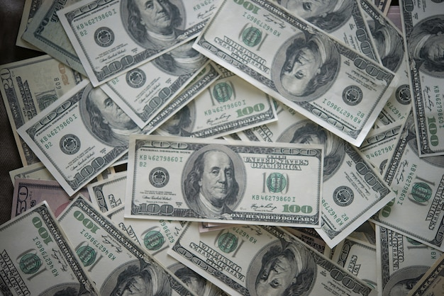 Billie dollar. geld achtergrond Gratis Foto