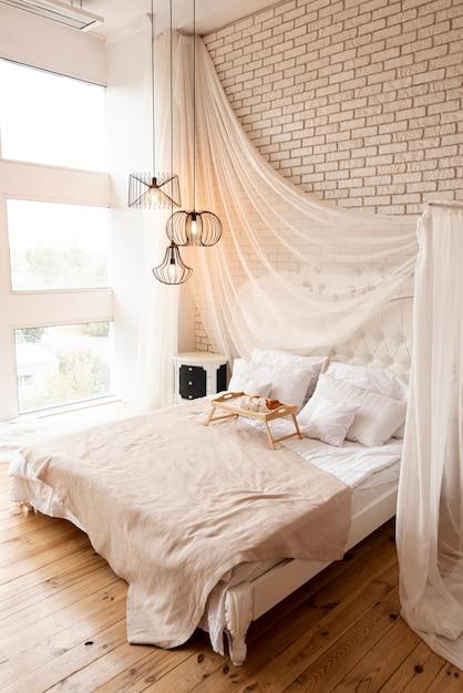 Binnenhuisarchitectuur van een slaapkamer Gratis Foto