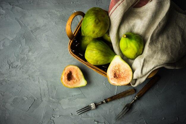 Biologisch voedsel concept Premium Foto
