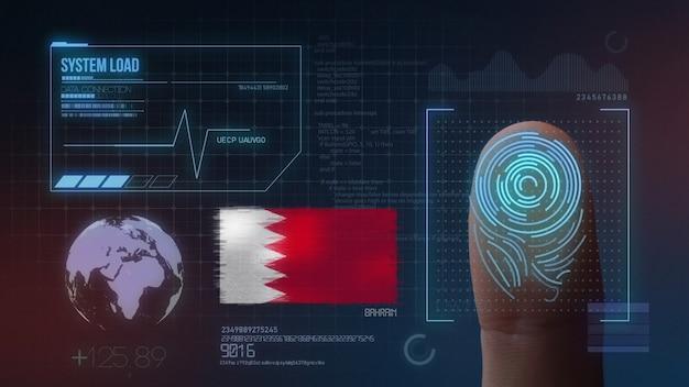 Biometrisch identificatie-systeem voor vingerafdrukken. bahrein nationaliteit Premium Foto