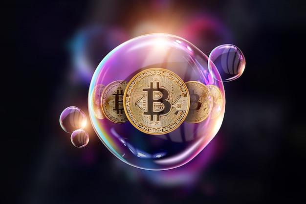 Bitcoin, de mogelijkheden van crypto-valuta .. Premium Foto