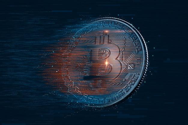 Bitcoin digitale valuta Premium Foto