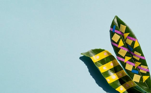 Bladeren met kopie ruimte achtergrond Gratis Foto