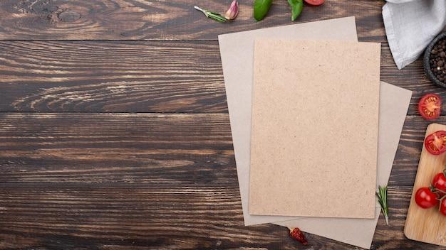 Blanco vel papier met kopie-ruimte Gratis Foto