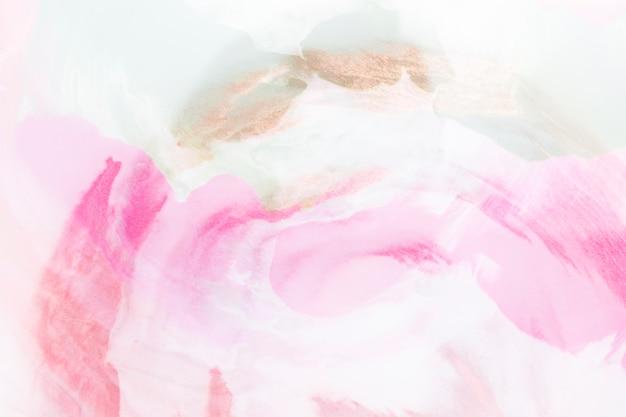Blauw en roze abstract handgeschilderd patroon op canvas Gratis Foto