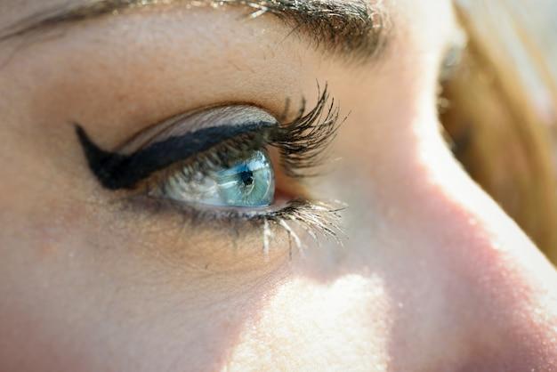 Blauw oog dicht Gratis Foto