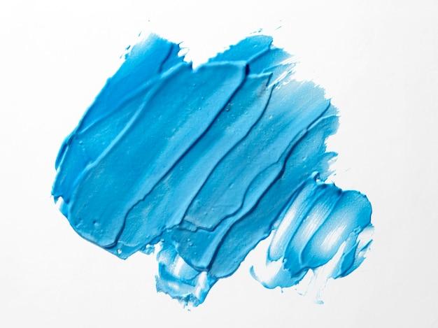 Blauw penseelstreek abstract art Gratis Foto
