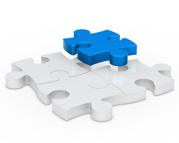 Blauw puzzelstukje Gratis Foto