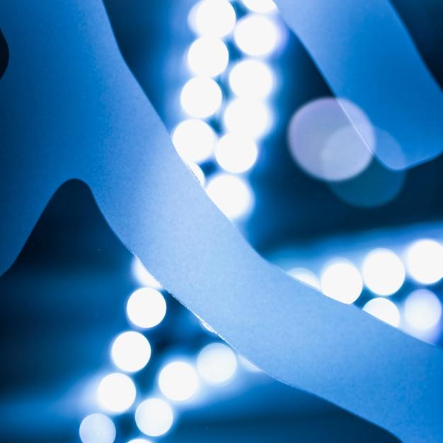 Blauwe abstract verlichte bokeh achtergrond Gratis Foto