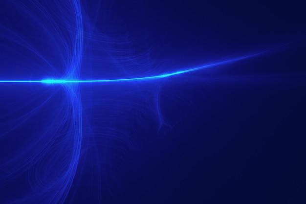 Blauwe achtergrond met lens flare effect Gratis Foto